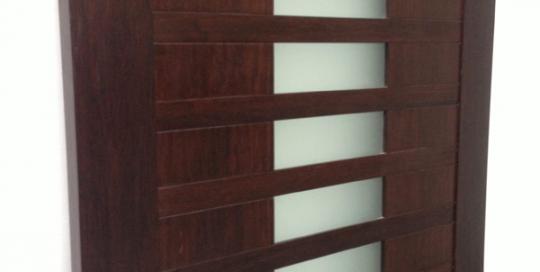 Ebony-and-glass-door