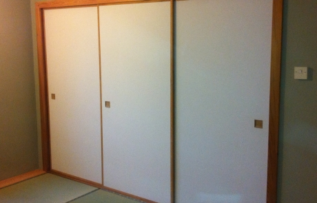 Japanese fusuma in tatami room