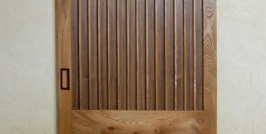 Walnut-and-elm-sliding-door